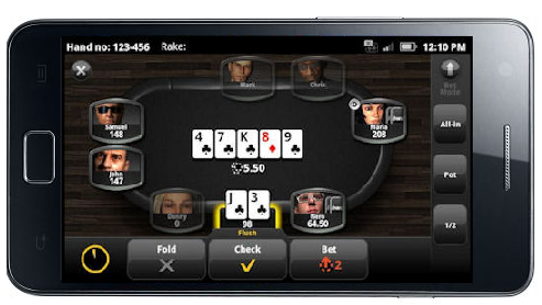Bwin Android Poker App on Samsung Galaxy SII