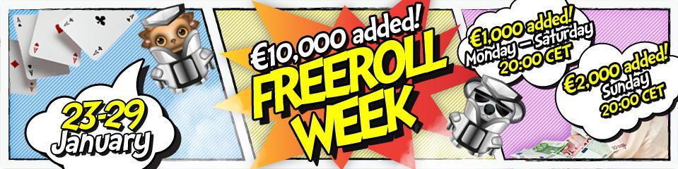 Poker sites bi-weekly freeroll