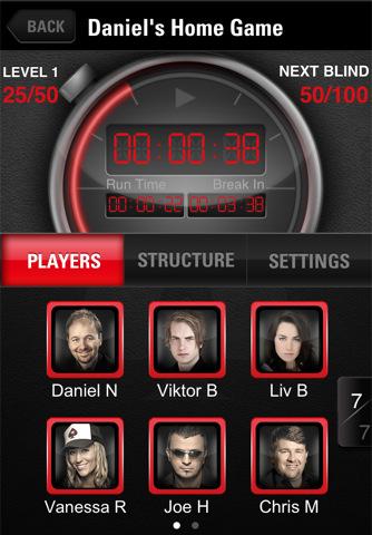 Pokerstars iPhone Clock Tournament Timer