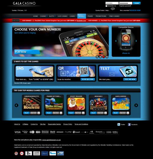 Gala casino mobile 10 free