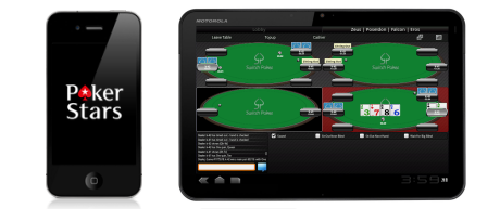 poker on tablet